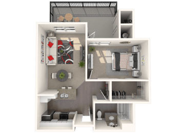 Bungalow Plus - two bedroom, one bathroom unit at FountainGlen Temeucla