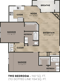 Floor Plan Two Bed Two Bath