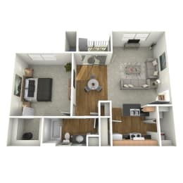 Trove Eastside Apartments Furnished A1 Floor Plan