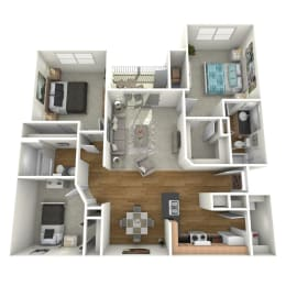 Trove Eastside Apartments Furnished C1 Floor Plan