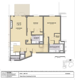 Floor Plan 2 Bedroom 2 Bathroom
