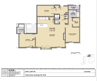 Floor Plan 2 Bedroom 2.5 Bathroom Plus