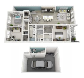 Radiant - D2G - 3x2 Floor Plan