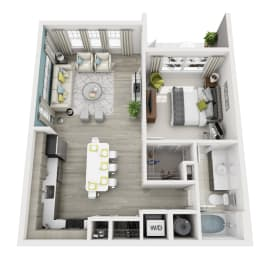 Allure - A3 - 1x1 Floor Plan