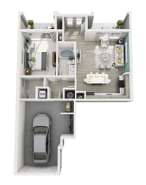 Aspire - A4G - 1x1 Floor Plan