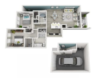 Excite - C1G - 2x2 Floor Plan