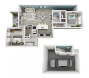 Elate - C2G - 2x2 Floor Plan