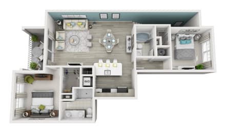 Elate - C4 - 2x2 Floor Plan