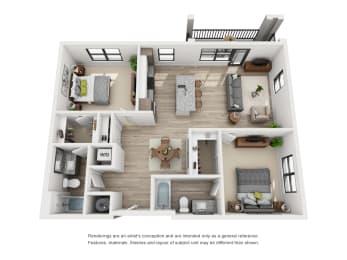 Floor Plan The Alexander - B2