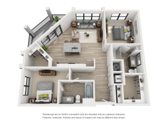 Floor Plan The Tawny - B3