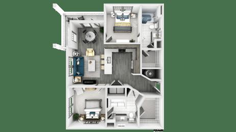 Dawson Floor Plan at The Crest at Flowery Branch, Flowery Branch, GA, 30542