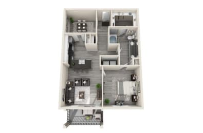 Two-Bedroom Floor Plan at The Mansions McKinney, Texas