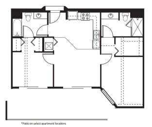 2.2A Floor Plan at One Santa Fe Residential, California