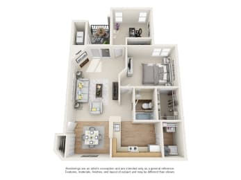 magnolia floor plan at owings park apartments in owings mills