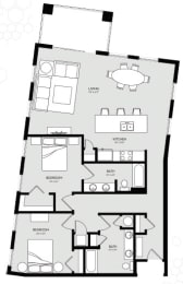 Two Bedroom Unit 6