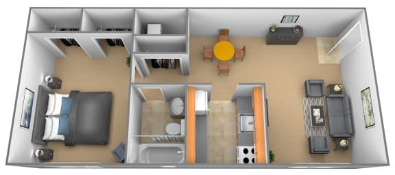 Floor Plan Studio 1 Bathroom, opens a dialog