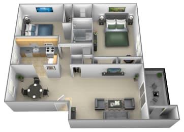 Floor Plan 2 Bedrooms 1.5 Bath, opens a dialog