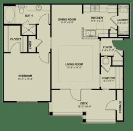 Floor Plan 1x1_906