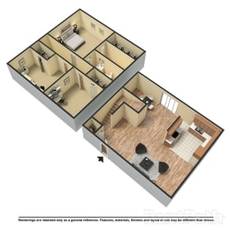 Floor Plan 3 Bed | 2.5 Bath C Townhome, opens a dialog