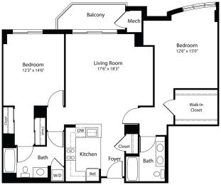 Floor Plan 2x2f