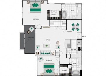 B8d Floorplan for arlo westchase