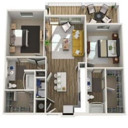 Floor Plan B1.1 - Two Bed - Two Bath, opens a dialog