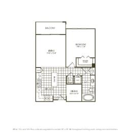 One Bedroom Floorplan, opens a dialog