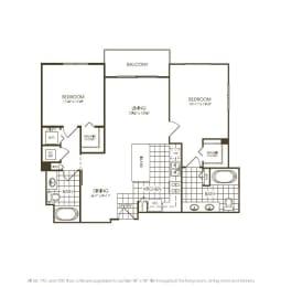 Two Bedroom Floorplan, opens a dialog