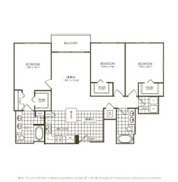 Three Bedroom Floorplan drawing, opens a dialog