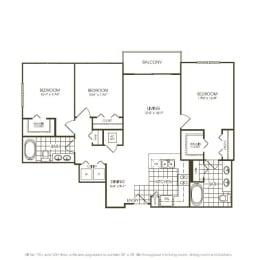 Three Bedroom Floorplan in plantation florida, opens a dialog