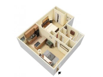 Floor Plan 1 Bed Junior