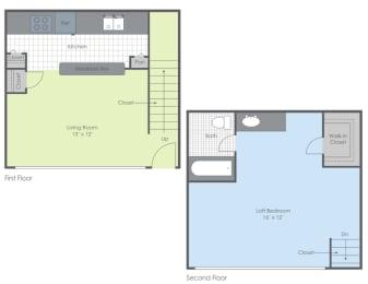Floor Plan One Bed - Woodland