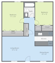 Floor Plan Two Bed - Southwind A