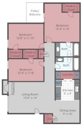 Floor Plan 3 BED
