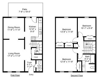 Floor Plan 3 Bed 1.5 Bath
