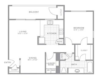 A2 Floor Plan at AVE Somerset, Somerset, NJ