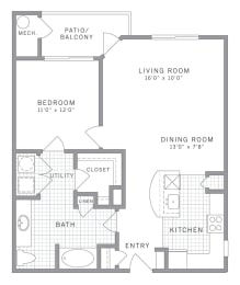 A2 Floor Plan at AVE Clifton, New Jersey, 07012