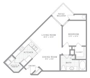 A5 Floor Plan at AVE Clifton, Clifton, NJ, 07012