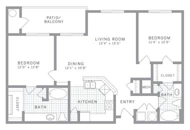 B2 Floor Plan at AVE Clifton, Clifton, 07012