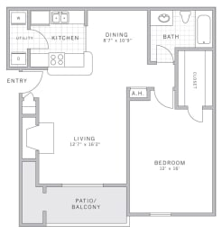 A2 Floor Plan at AVE Malvern, Pennsylvania, 19355