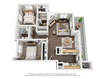 2 Bedroom, 2 Bath, Downstairs,at Park Ridge Apartments, Fresno, CA 93711
