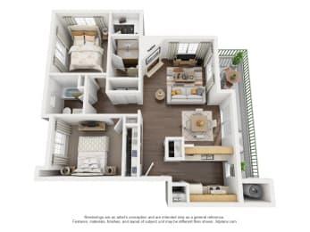 2 Bedroom, 2 Bath, Upstairs,at Park Ridge Apartments, Fresno, CA