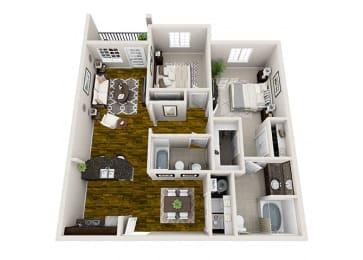 Sierra 2 Bedroom Floor Plan