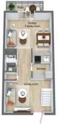 Floor Plan 2 Bed | 2. 5 Bath, opens a dialog