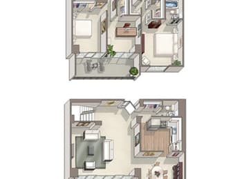 3 Bed 2.5 Bath Westminster Floor Plan at The Summit, Virginia, 22304