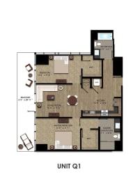 Floor Plans Of K1 In San Diego, CA