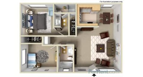 Point Bonita Apartment Homes - 2 Bedroom 2 Bath Apartment