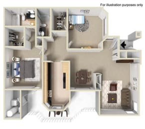 The Bryant at Yorba Linda Apartment Homes - 2 Bedroom 2 Bath Apartment, opens a dialog