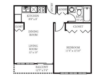 Vista Apartment Homes - 1 Bedroom 1 Bath Apartment