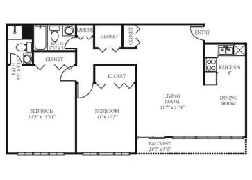 Vista Apartment Homes - 2 Bedroom 2 Bath Apartment